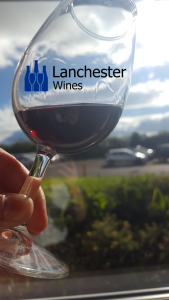 lanchester wines logo in a glass